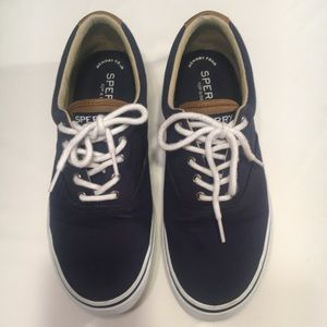 Sperry Navy Canvas Top-Siders. Size 10.5